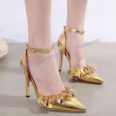 High Heels 2020 Spring New Women's Shoes Fashion Trend Skirt Back Pointed Heels.