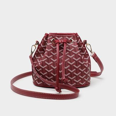 Women's Small Slant Simple Small Bag Pumping Rope One Shoulder Small Bag