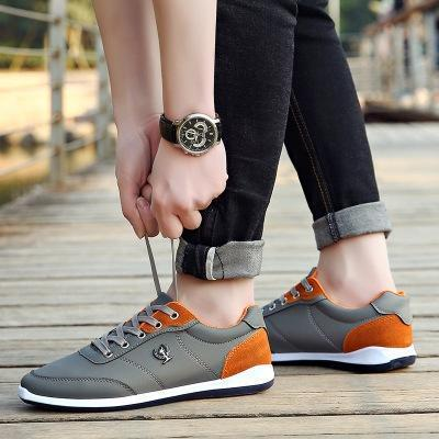 Mens Lace-up Low Top Sneakers Casual Flat Shoes