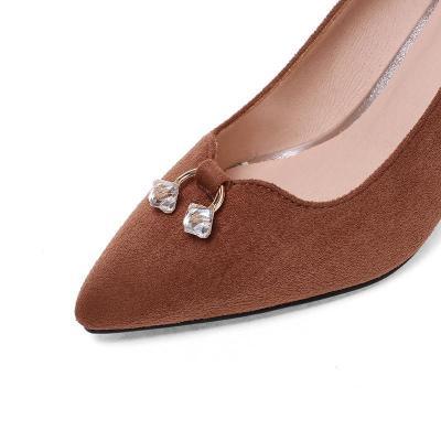 Elegant Rhinestone Kitten Heel Date Heels