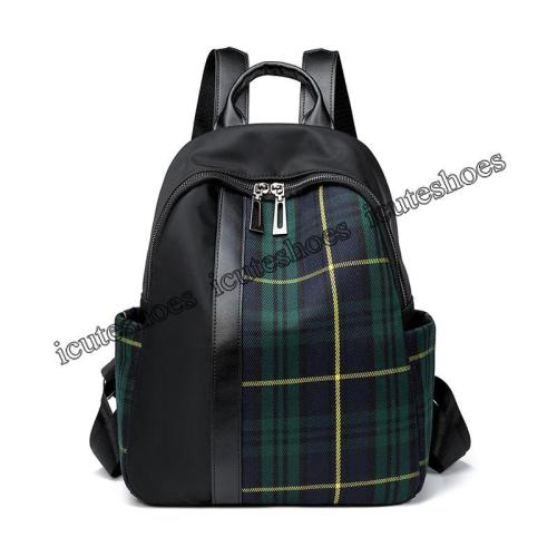 plaid shoulder bag women's new Oxford cloth backpack travel bag