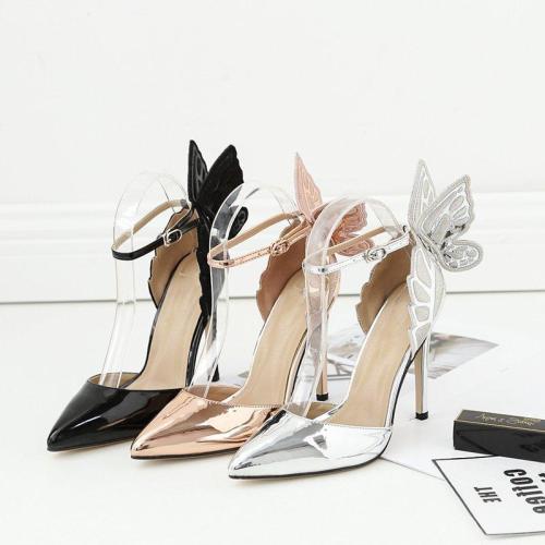 Elegant High Heel Pointed Toe Champagne Heels