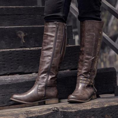 Women Winter Side-zipper Knee-high Boot