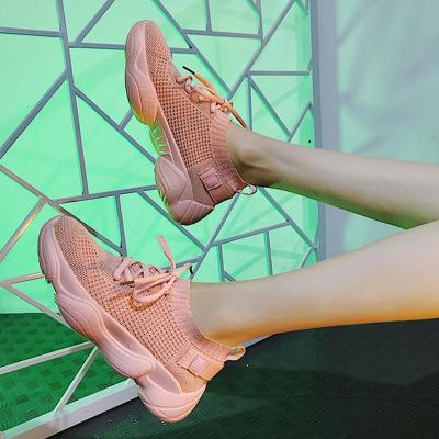 Women Knitted Fabric Sneakers Casual Comfort Slip On Shoes