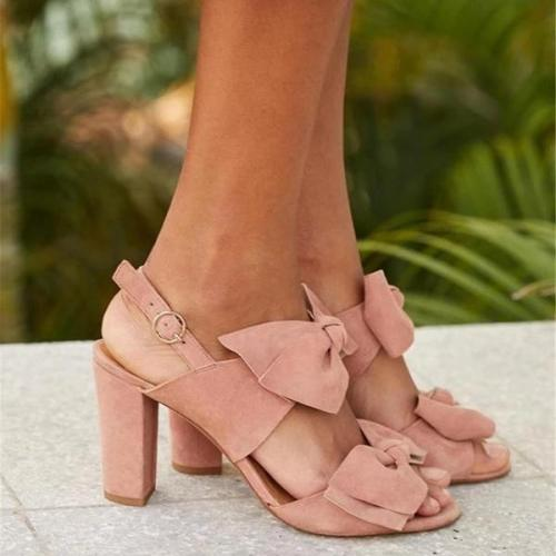 Summer High Heel Thick With Buckle Sandals