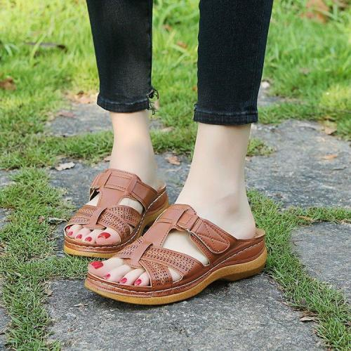 Large Cross Border Slippers Women's Sandals Slope Heel Women's Slippers