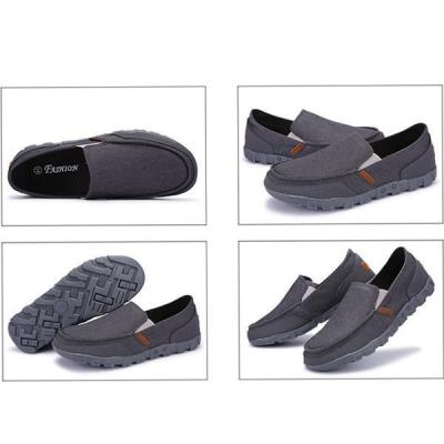 Mens Casual Canvas Round Toe Slip on Flat Shoes