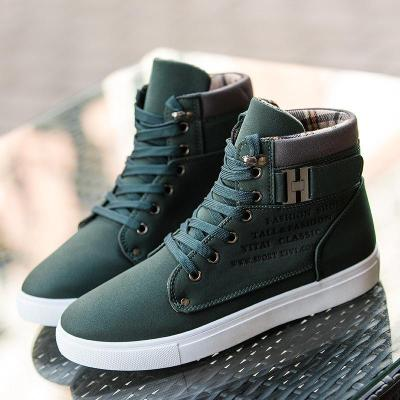 Autumn Leather Footwear  High Top Casual Men Boots