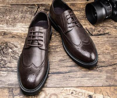 Casual Fashion Men Brogue   business shoes work shoes