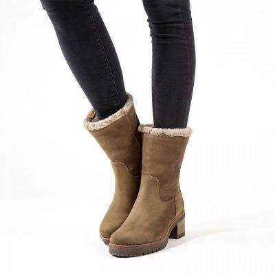 Casual Antiskid Folding Mid-heel Boots