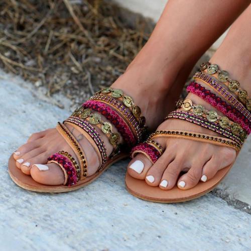 Women Shoes Comfortable Rome Beach Flat Sandals