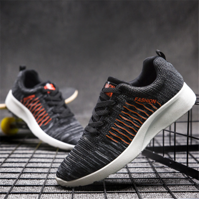 Men's casual flying woven breathable Men's Sneakers
