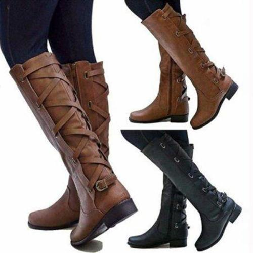 Women Vintage Boot Plus Size Zipper Boots