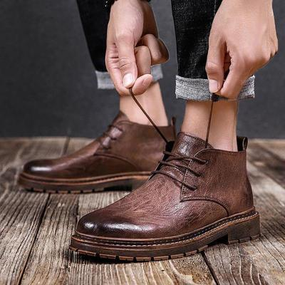 Male British style retro casual tooling boots