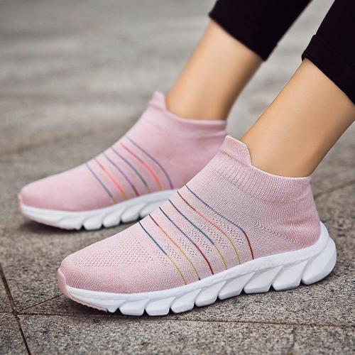 Women Comfortable Multicolor Elastic Cloth Sneaker Casual Shoes