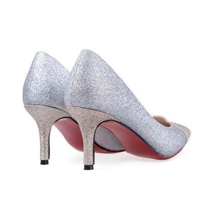 Crystal Sequins Wedding Bridesmaids Shoes