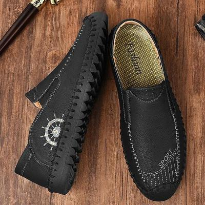 Mens Spring Summer British Style Casual Slip-on Flat Shoes