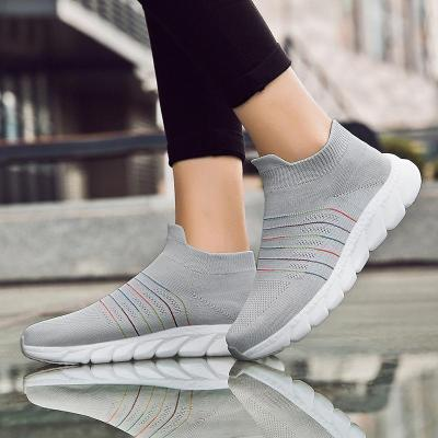 Women Comfortable Multicolor Elastic Cloth Sneaker Casual Shoes