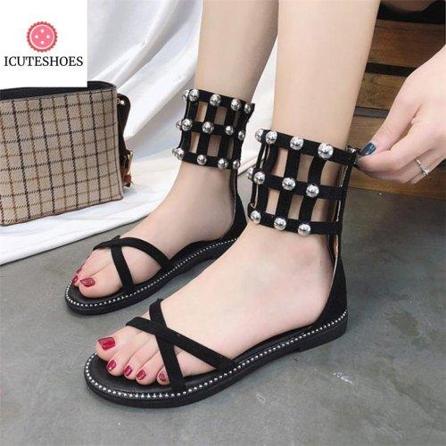 Open Toe Zipper Beach Shoes Woman Summer Women