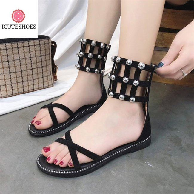 Open Toe Zipper Beach Shoes Woman Summer Women