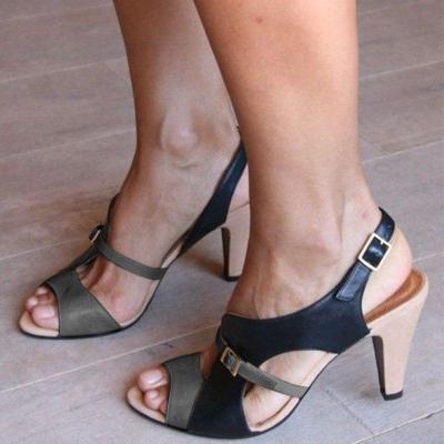 Women High Heel Open Toe Elegant Sandals