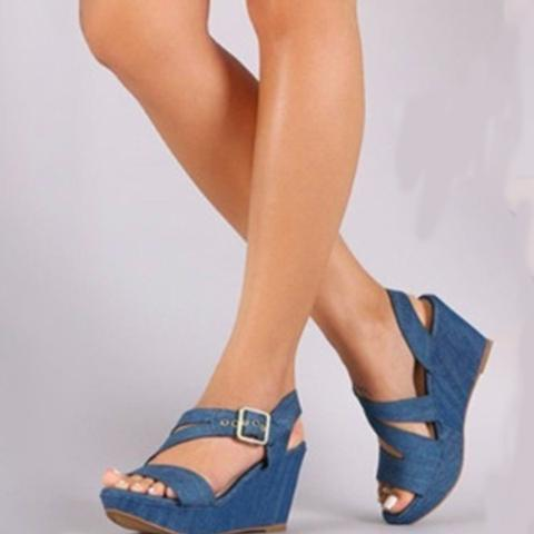 Casual Round Toe High-heeled Sandals