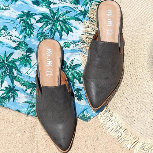 Women Summer Simple Pointed Mules