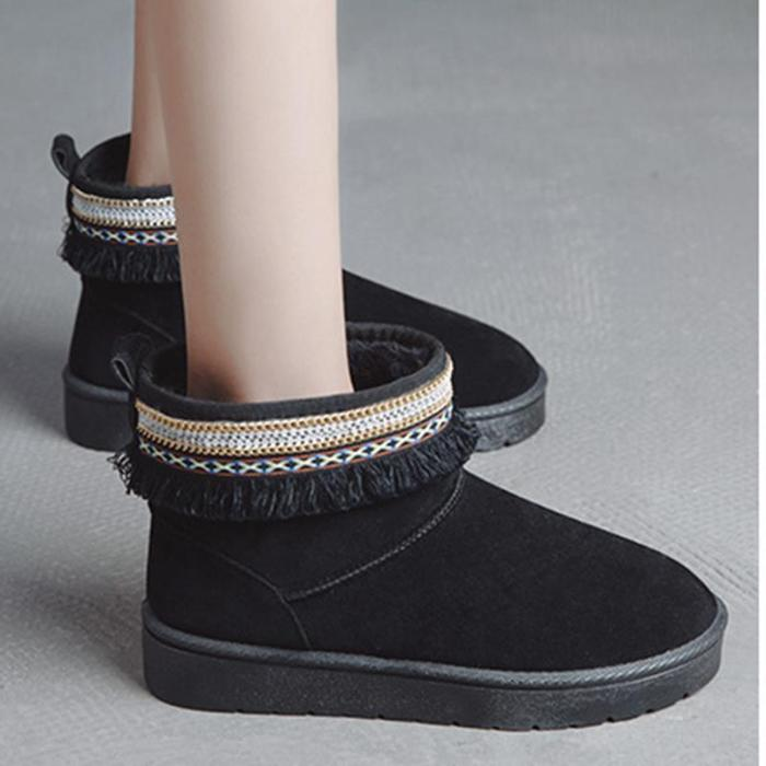 Women Casual Warm Snow Boots Slip On Shoes