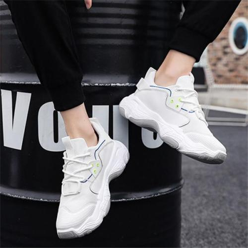 Man's Mesh Cloth Breathable Thick Soled Sport Casual Shoes