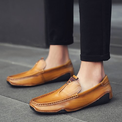 Business Casual Cowhide Lazy Shoes