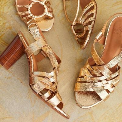 Summer High Chunky Heels Buckle Summer Interweave Sandals