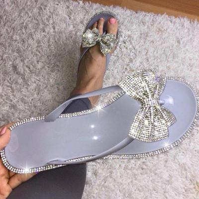 Swarovski Crystal Jelly Bow Flip Flop