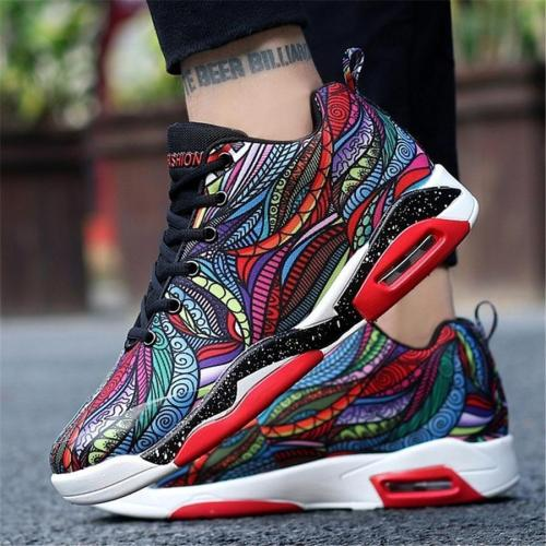Couple Models Graffiti Cushion Basketball Sport Shoes