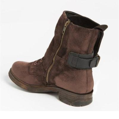 Women Vintage Boots Casual Chic Zipper Boots