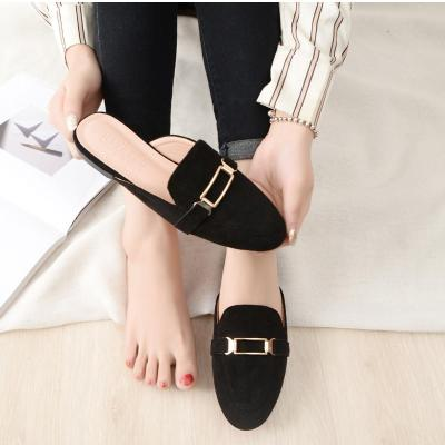 Spring and Autumn New Style Sandals for Women's Retro Outside Wearing Fashionable Muller Shoes Sandals