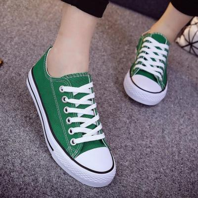Candy Color Women Simple Casual Canvas Lace-Up Sneakers