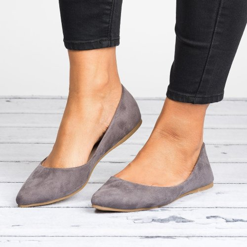 Angie Grey Ballet Flats