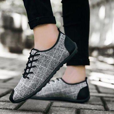 Men Wear Casual Plaid Shoes