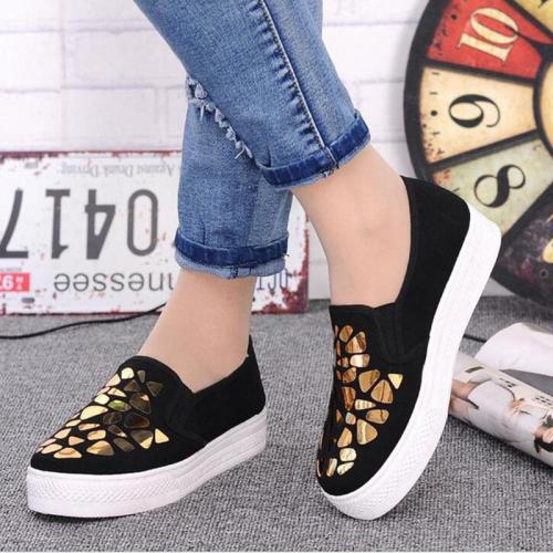 Womens Pu Sequin Casual Summer Loafers