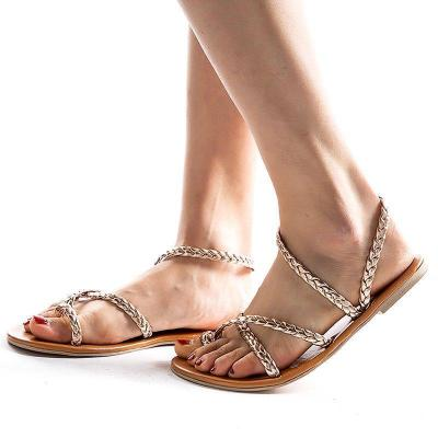 Summer Women Flip-Flop Crisscross Thongs Sandals