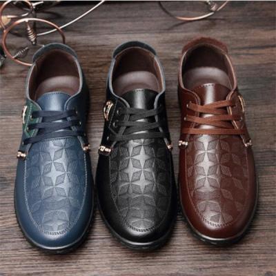 Men's Lace-up Casual Flat Shoes Microfiber Business Shoes