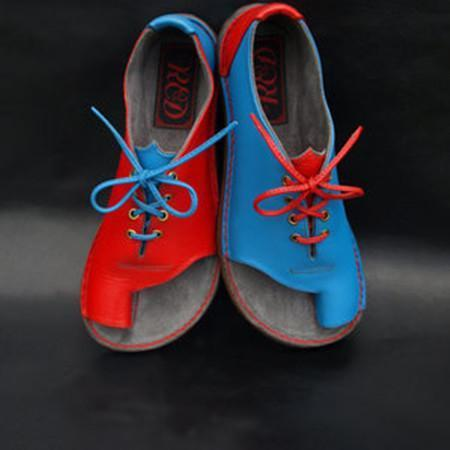 Women Lace Up Flat Pu Casual Sandals