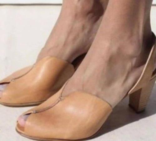 Chunky High Heels Women Wedding Party Ladies Open Toe Sandals