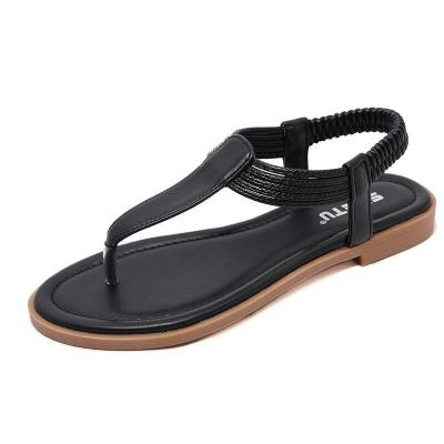 New women's sandals comfortable holiday beach flat shoes