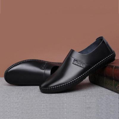 Mens Pure Color Comfy Soft Sole Slip On Casual Loafers
