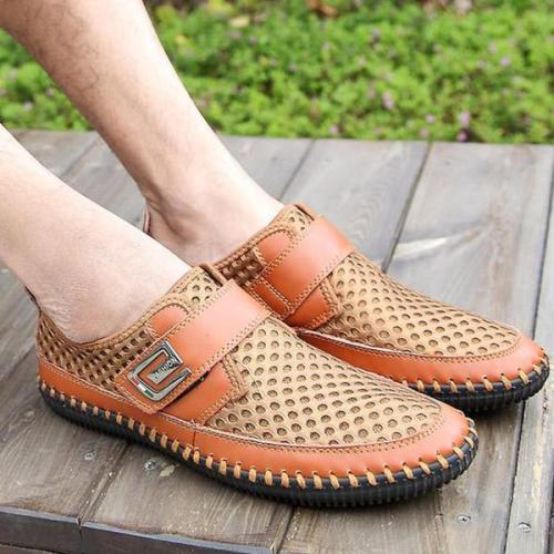 Mens Summer Casual Mesh Shoes Slip on Loafers Flats