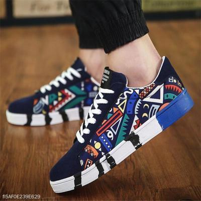 Fashion Youth Casual Sport Scrawl Shoelace Men Shoes