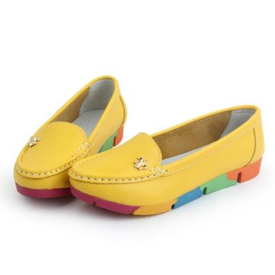 Plain  Low Heeled  Faux Leather  Point Toe  Casual Flat & Loafers