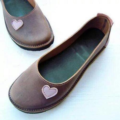 Soft Round Head Flat Heel Loafers