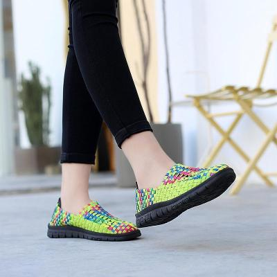 Summer Women Flat Shoes Handmade Comfortable Shallow Loafers Slip On Shoes Casual Female Shoe 127181